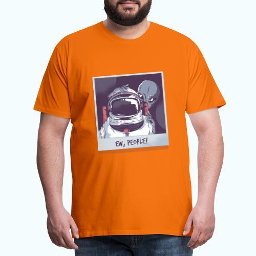 Aliens and astronaut - Men's Premium T-Shirt