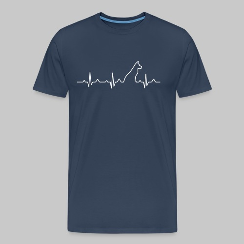 Dog Heartbeat 2 - Männer Premium T-Shirt