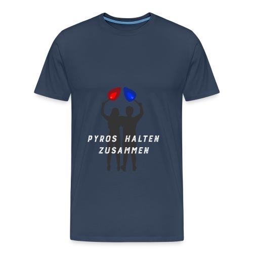 Silhouette PYROS HALTEN ZUSAMMEN - Männer Premium T-Shirt