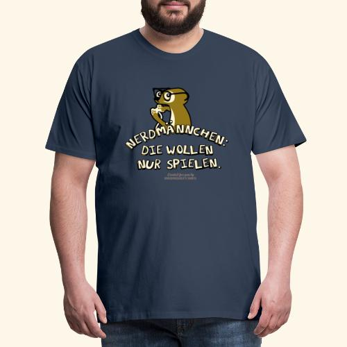 T-Shirt Nerdmännchen Erdmännchen für Geeks & Nerds - Männer Premium T-Shirt