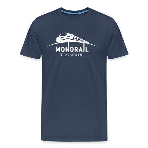 Monorail Hvit - Premium T-skjorte for menn