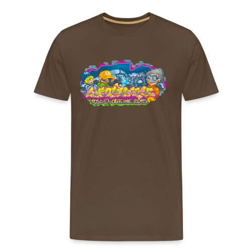 Untouchable png - Herre premium T-shirt