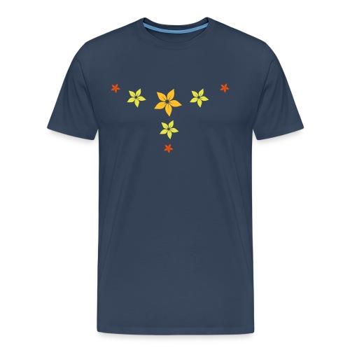 flower, star - Männer Premium T-Shirt