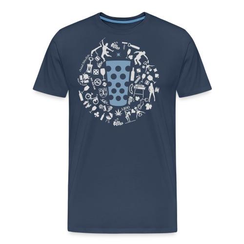 Michl-blau - Männer Premium T-Shirt