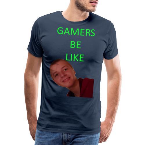 KrestenDesign 3 rå - Herre premium T-shirt