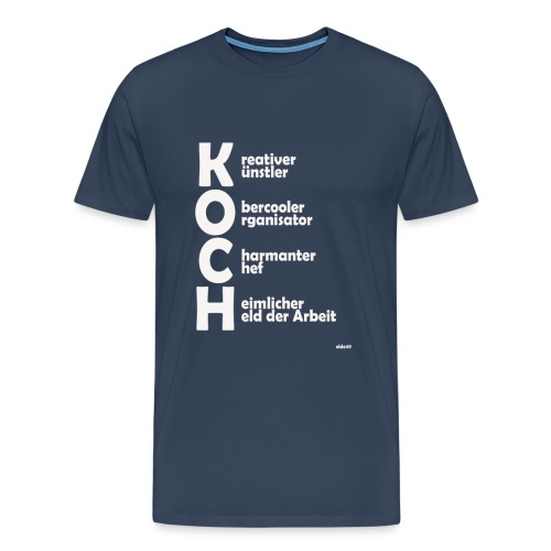 Was macht einen Koch aus? (Premium Shirt) - Männer Premium T-Shirt