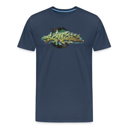 Scratch Graffiti Style - Herre premium T-shirt