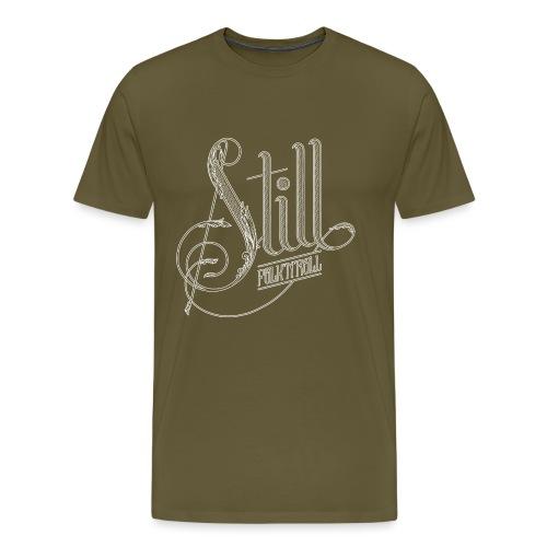 Still Logo - White - Men's Premium T-Shirt