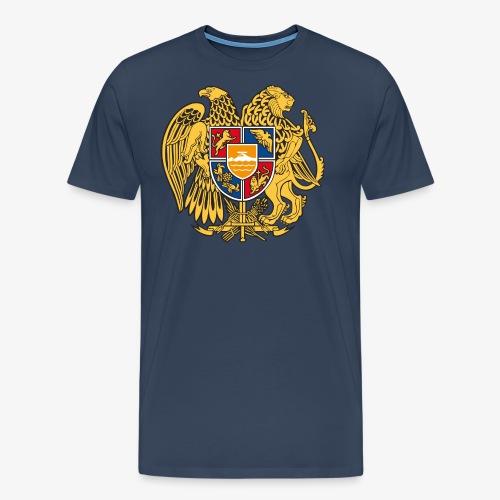 03 Armenien Wappen Armenia Армения T-Shirts - Männer Premium T-Shirt