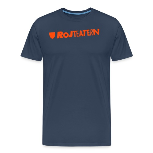 T-shirt herr logga navy/orange - Premium-T-shirt herr