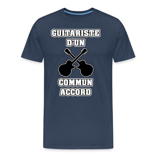 GUITARISTE D'UN COMMUN ACCORD - JEUX DE MOTS - T-shirt Premium Homme