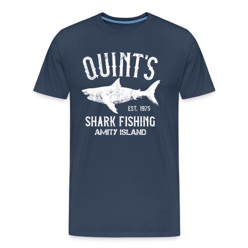 Quint's Shark Fishing Charters - Amity Island 1975 - Men's Premium T-Shirt