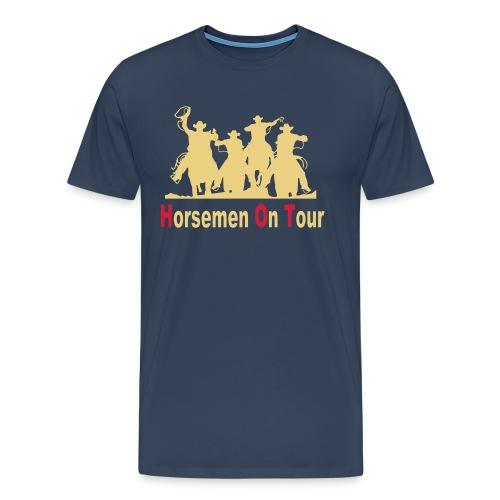Horsemen On Tour Vektor min 27x20 cm - Männer Premium T-Shirt