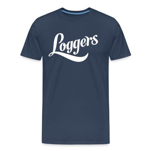Loggers 1 color logo - Premium T-skjorte for menn