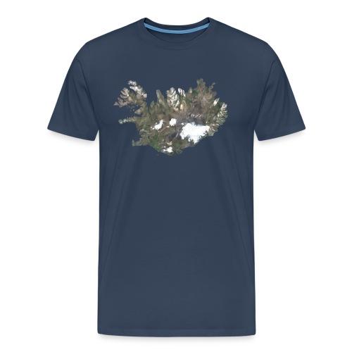 Island Karte Low Poly Stil - Männer Premium T-Shirt