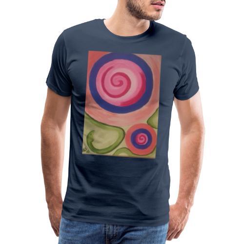 spirale con serpente - Maglietta Premium da uomo