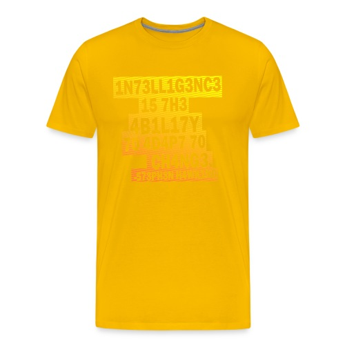 Stephen Hawking - Intelligence - Men's Premium T-Shirt
