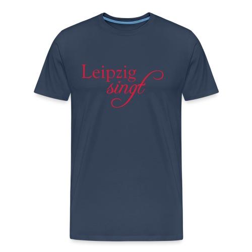 Leipzig singt Logo Rot - Männer Premium T-Shirt