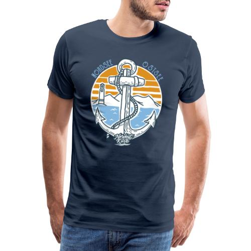 Ankerpunkt Nordsee Ostsee - Männer Premium T-Shirt