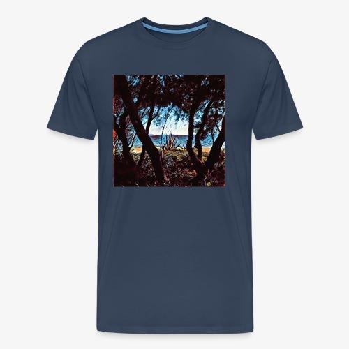 Vista mare dalla pineta - Maglietta Premium da uomo