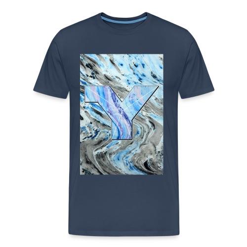 bLUE Y png - Men's Premium T-Shirt