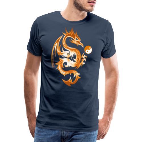 Der Drache spielt mit der Energie des Lebens. - Männer Premium T-Shirt