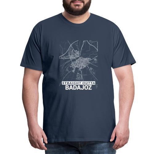 Straight Outta Badajoz city map and streets - Men's Premium T-Shirt