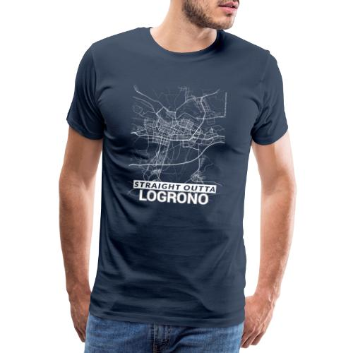 Straight Outta Logroño city map and streets - Men's Premium T-Shirt