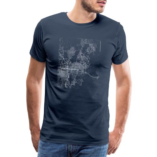 Minimal Sparks city map and streets - Men's Premium T-Shirt