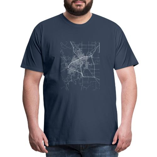 Minimal San Angelo city map and streets - Men's Premium T-Shirt