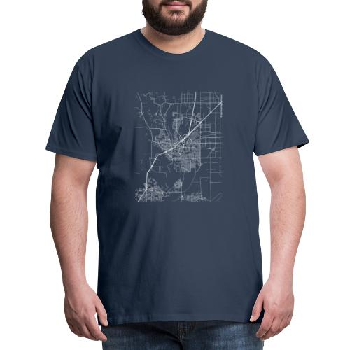 Minimal Vacaville city map and streets - Men's Premium T-Shirt
