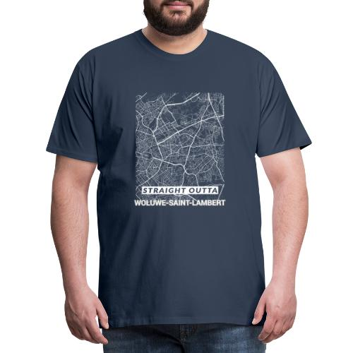 Straight Outta Woluwe-Saint-Lambert city map - Men's Premium T-Shirt