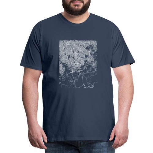 Minimal São Bernardo do Campo city map and streets - Men's Premium T-Shirt