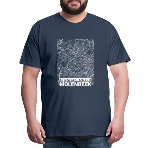 Straight Outta Molenbeek city map and streets - Men's Premium T-Shirt