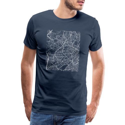 Minimal Molenbeek city map and streets - Men's Premium T-Shirt