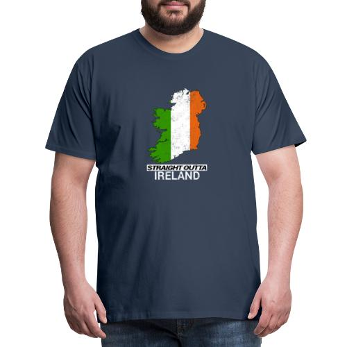 Straight Outta Ireland (Eire) country map flag - Men's Premium T-Shirt