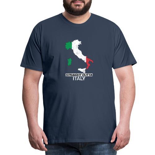 Straight Outta Italy (Italia) country map flag - Men's Premium T-Shirt