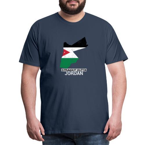 Straight Outta Jordan country map - Men's Premium T-Shirt