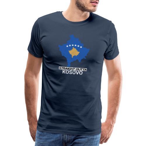 Straight Outta Kosovo country map - Men's Premium T-Shirt