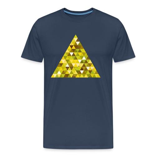 Dreieck Geek Hipster Ornament Grunge Retro Vintage - Men's Premium T-Shirt