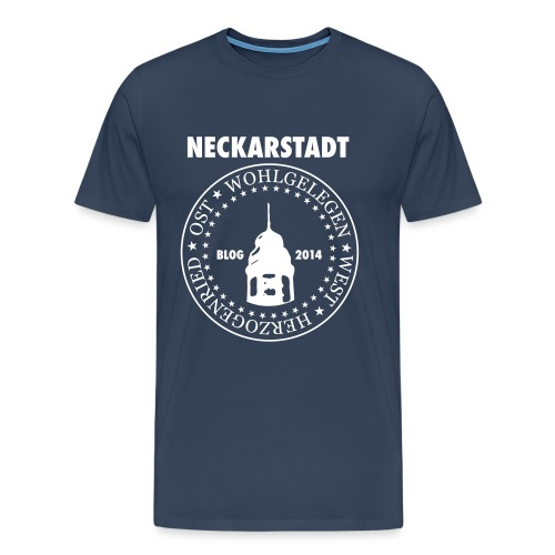 Neckarstadt – Blog seit 2014 (Logo hell) - Männer Premium T-Shirt