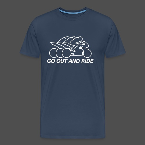go out and ride superbike - Men's Premium T-Shirt