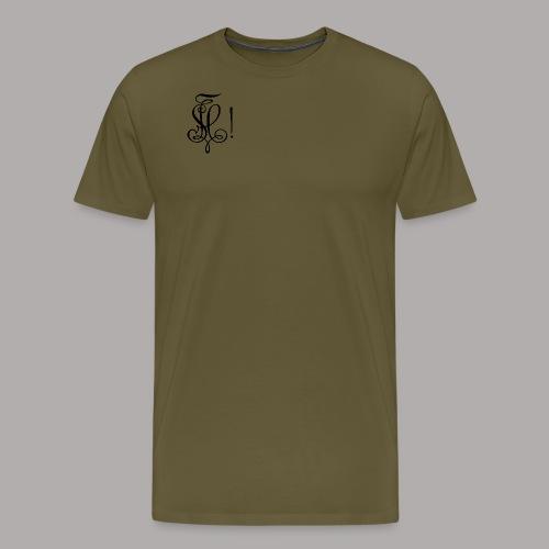 Zirkel, schwarz (vorne) - Männer Premium T-Shirt