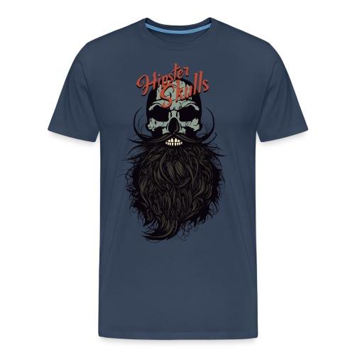 tete de mort hipster skull crane logo barbu barbe - T-shirt Premium Homme