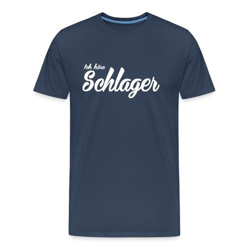 Ich höre Schlager - Männer Premium T-Shirt
