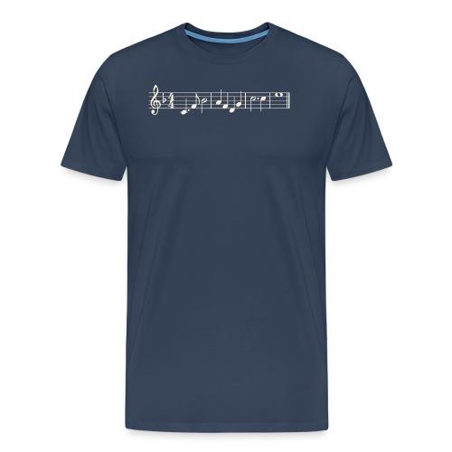 Notenzeile - Weiß - Männer Premium T-Shirt
