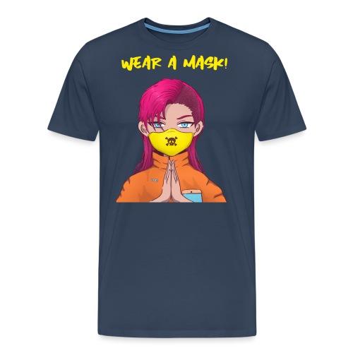 Girl Wear a mask2 - Miesten premium t-paita