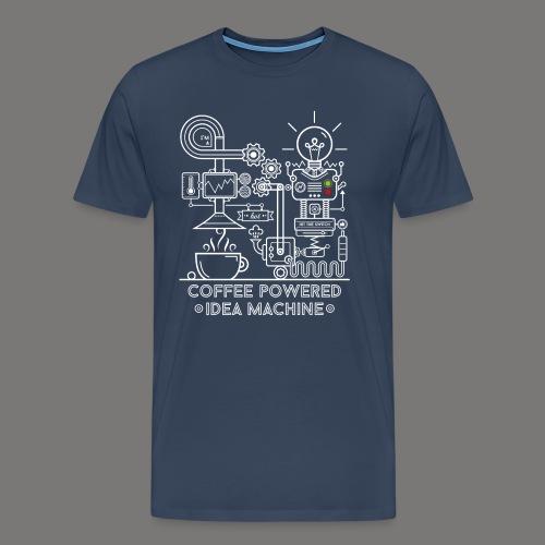 Coffee powered - white - Männer Premium T-Shirt