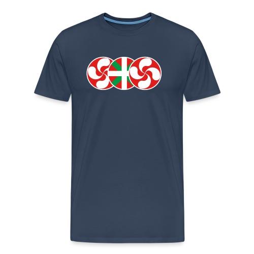4buru logo 3 symboles sans texte lauburu rouge - T-shirt Premium Homme