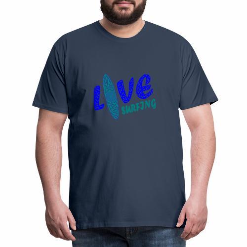 Love Surfing - Männer Premium T-Shirt
